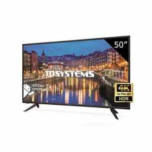 TD Systems K50DLH8US – Téléviseur 50 Pouces LED Ultra HD 4K Smart, résolution 3840 x 2160, HDR10, 3X HDMI, VGA, 2X USB, Smart TV.