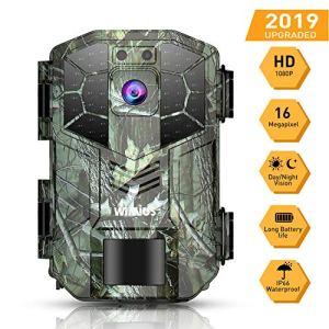 WiMiUS Caméra de Chasse 16MP 1080P HD IP66 Étanche avec Vision Nocturne 70ft / 20m 940nm LED Infrarouge, 2» LCD Camera Detecteur de Mouvement Animaux pour la Surveillance de la Faune et la Sécurité
