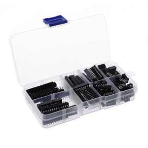 YOFO 66pcs/lot Dip IC Sockets Adaptateur Solder Type Assortiment kit (6/8/14/16/18/20/24/28pins)