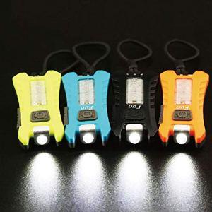 Bigherfez Porte-clés léger avec Clip USB Rechargeable clé lumière légère Lampe de Course de Nuit Durable Lampe de réchauffement Super Lumineux