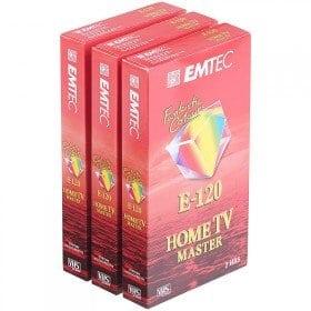 Emtec Home TV Master E120 Cassette VHS, 120 min, 3 pièces