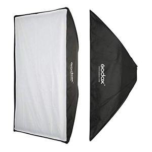 Godox 80x 120cm Boîte à lumière Flash Speedlite avec Bowens et Fixation Grille nid d'abeille pour Studio Strobe Flash Light