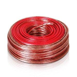 Générique. R 2 x 2,5 mm. Câble stéréo stéréo stéréo stéréo Rouge avec Bandes pour Maison D Home 50 m