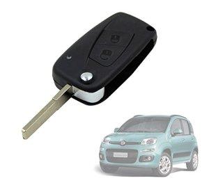 Coque de clé de verrouillage télécommande 2 boutons à distance pour voiture Fiat