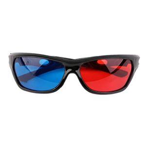 Lunettes 3D universelles Noir Cadre Rouge Bleu 3D 3D Visoin Verre pour Jeu De Film Anaglyphe Dimensionnel DVD Vidéo TV(Color:Red&Blue)