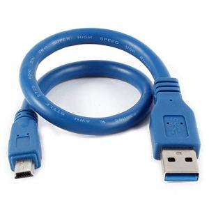 Ogquaton Premium Populaire 12 Bleu USB 3.0 Mâle Mini 10 Broches Mètre M/Connecteur de câble d'extension Pratique