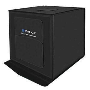 Consumer YHM PULUZ 60cm Portable 60W pliable 2 x 1690LM 5500K lumière blanche éclairage de studio photo kit de boîte de tir tente avec 3 couleurs de fond (noir, orange, blanc), taille: 60cm x 60cm x 6