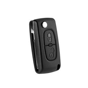 PIXNOR 2 boutons de remplacement distant entrée sans clé pliante Flip Shell clé pour Peugeot 207 307 308 407 408