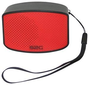 sound2go 10102S2G Compact Compact de sound2go, Petit Haut-Parleur Bluetooth Portable Noir/Rouge