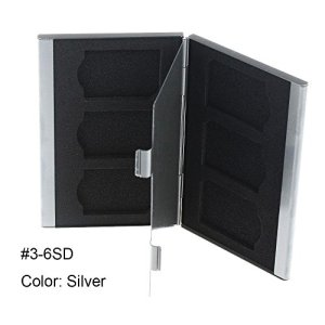 forviupet Étui de Rangement en Aluminium pour Cartes mémoire CF/TF/SD/SIM