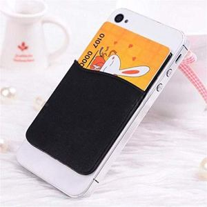 Adhesive Sticker Back Cover Card Holder Case Pouch for Cell Phone Soft Comfortable Phone Credit Card Holder