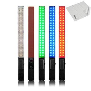 Yongnuo Yn360Pro LED Video Light Wand avec 32005500K RVB Température Réglable en Couleur: Ice Stick pour DSLR Caméra DV et caméscope avec Selens Chiffon de Nettoyage
