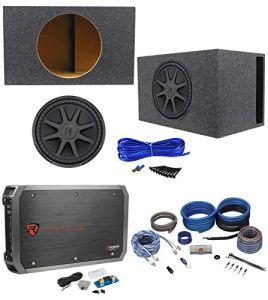 FidgetGear 44CVX152 CVX Caisson de Basses de Voiture avec Caisson de Basses ventilé, Mono et Fils 38 cm 2000 W