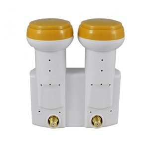LNB Monobloc Twin 0,1 DB Golden Media Full HD 3D Ready