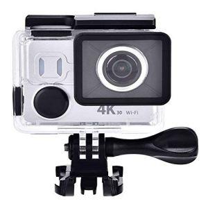 VBESTLIFE Mini Caméra de Sport d'action 4K 30fps HD, Caméra WiFi étanche DV avec Vue à 170 degrés, Argent.