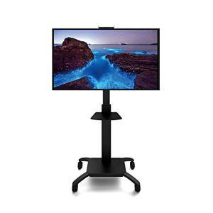 Exing Mobile TV Stand Cart, 32-60 Pouces LED LCD Écran Plat Plasma TV Portable Plancher Stand TV Rack Landing Mobile Cart