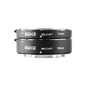 Meike MK-Z-AF1 Tube Adaptateur Macro en métal pour Mise au Point Automatique 11 mm + 18 mm Compatible avec Nikon Z6 Z7
