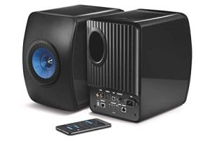 KEF LS50W – SP3903BA – Enceinte sans fil – Enceintes actives | HiFi | Airplay 2 Enceintes | Spotify Connect, TiDAL | LS50 Meilleur système de musique active et système stéréo – Noir/Bleu
