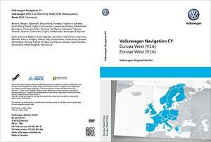 Volkswagen 1T0051859AQ Système de Navigation d'origine – DVD-ROM V16 – Zone de Couverture : Europe de l'Ouest – RNS 510/810 – Système de Navigation CY – Mise à Jour VW du Logiciel Navi