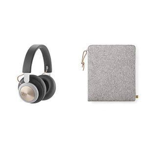 Bang & Olufsen Casque d'écoute sans fil Beoplay H4 anthracite + pochette de rangement en tissu pour casque audio gris