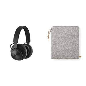 Bang & Olufsen Casque d'écoute sans fil Beoplay H4 noir + pochette de rangement en tissu pour casque audio gris