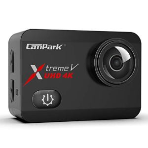Campark X30 Caméra Sport 4K/60fps 20MP WiFi Appareil Photo Étanche 40M avec Écran Tactile Stabilisateur 170 °Grand-Angle Réglable, 2×1350mAh Batteries Plus Un USB Chargeur et Kit d'accessoires