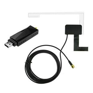 Dab Car Radio Tuner Récepteur USB Stick Dab Box pour Android Car DVD Antenne d'antenne d'autoradio numérique,pour Le Montage en Verre de Voiture Dab + pour Android 5.1 / VW/Ford/Opel/BMW