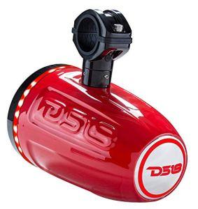 DS18Hydro Nxl6tpr Paire de Rouge Marine 16,5cm 2Voies Haut-parleurs Wakeboard Tour avec Intégré LED RVB lumières–300Watts Max–100Watts RMS