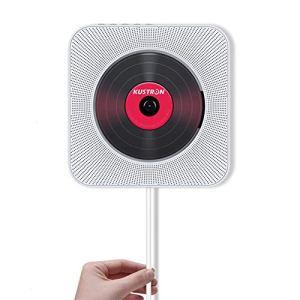 FAY Lecteur de CD Portable, baladeur Bluetooth CD à Fixation Murale, Haut-Parleur HiFi avec télécommande, Lecteur de clé USB (entrée/Sortie AUX), pour éducation/Apprentissage prénatal,White