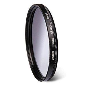 Flycoo ZOMEI Professionnel Filtre de Couleur Gradués Circulaire Dégradé – 55mm Gris