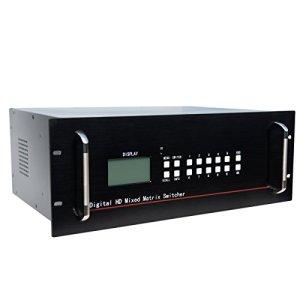 HDMI Matrix Commutateur 8: 16sorties sopport HDCP HDMI 1.4et DVI 1.0protocole Support pour 12bits Profondeur de couleur et tous les HDTV resoluions Y Compris et PC Résolution jusqu'à 1920* 1080P