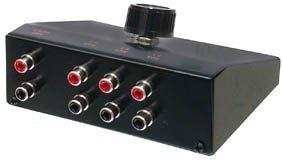 HQ 3-Fach Stereo eingangsschalter
