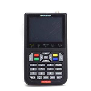 IBRAVEBOX V8 Finder – Compteur de Recherche de Signal Satellite numérique, écran Couleur LCD de 3,5 Pouces, Compatible DVB & Live FTA (Noir)