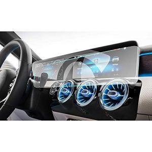 JNXZHDCJ écran de Navigation en Film Protecteur Plein écran de 10,25 Pouces, Protecteur en Verre trempé 9H.pour Mercedes Benz Classe A W177 / V177