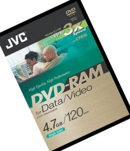 JVC DVD-RAM enregistrable (2Heures) Sin