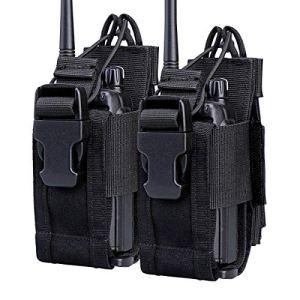 KEESIN Étui de Rangement en Nylon Sac avec Porte-poche Réglable pour 2 Radio-étui pour Talkie Walkie(2 Paquet)