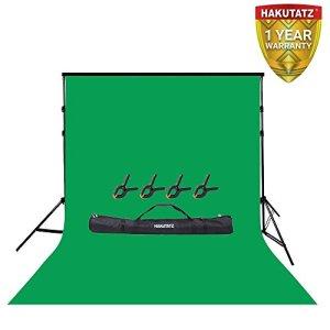 Kit de Support de Fond Ajustable Comprenant Un Fond de clé Chroma Vert de 3 X 5 M et Un Support de Fond de 3 X 3 M Ensemble Complet pour la Photographie de Portraits et la Photographie en Studio