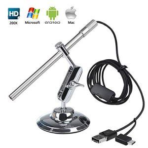 Microscope Numérique USB Endoscope Portable HD USB 2 en 1 pour OTG Smartphone Tablette Laptop PC de Flylinktech