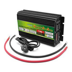 MTSBW 1000W Power Inverter DC 12V à 220V AC Voiture convertisseur Solaire Domestique avec 3.1A Seul Chargeur Adaptateur Voiture USB à Deux Voies Multiples Protection Intelligente