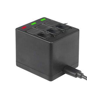 Mylujo Chargeur Appareil Photo Etui de Chargement et de Stockage de la Batterie 2 en 1 pour Batterie de caméra d'action Sportive Noire 5/6/7 GoPro Hero