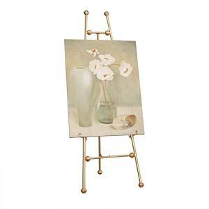 Nai-tripod Zhou Studio School Display Stand, Graduation Peinture Exposition Propaganda Support métal, Mariage intérieur Photo en Fer forgé Support yan (Size : 45 * 55 * 120cm)