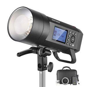 Neewer AD400 Pro Flash Strobe Torche Extérieur 400W GN72 – Lampe Alimentée par Batterie avec TTL HSS 2,4GHz Système Sans Fil N, Montage Bowens, 390 Full Power Pops, 30W LED Lampe Pilote