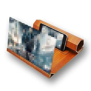Npotwdt Amplificateur d'écran de téléphone loupe de Grain de Bois amplificateur 3D