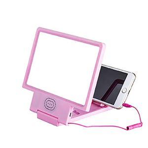 Npotwdt HD 3D Eye Care Phone Magnifier Amplificateur d'écran Amplificateur vidéo avec Support Audio Haut-Parleur