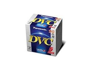 Panasonic AY-DVM60FE3B Blister de 5 cassettes Min DV 60 minutes Qualité standard