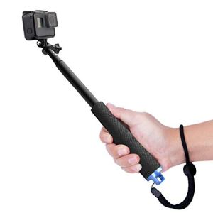 Perche de Selfie Monopode Extensible de Luxebell pour Gopro Hero 5 4 Hero 3+ Hero 3 hero 2 / Sony Action Cam / Canon / Nikon / Sony / Panasonic / Olympus SJ5000 SJ4000 – Noir