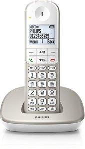 Philips XL4901S/FR Téléphone Fixe sans Fil avec Haut-parleur, Larges Touches, Compatible Toutes Box, Argent