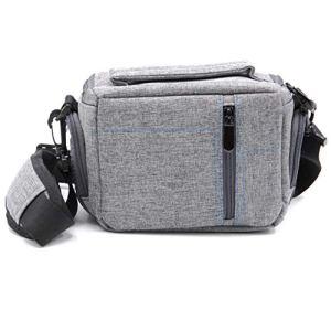 Pochette de caméra VHBW en Canvas Gris pour Appareil numérique sans Miroir,caméscope Canon EOS M10, M50, R