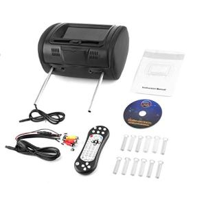 Rouku Universal 7″Appui-tête Lecteur DVD de Voiture Noir Voiture DVD/USB/HDMI Appuie-tête de Voiture Moniteurs avec Jeux Disque Haut-parleurs internes