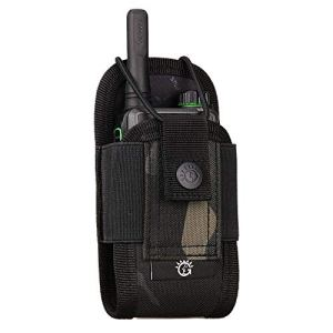 Sac Housse de Talkie-Walkie Molle Tactique Sacoches Multifonctionnel Radio Pouch Léger Poche étui pour Interphone Sports Plein air,Camouflage
